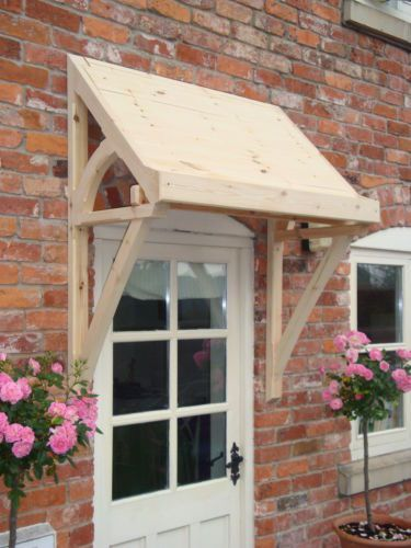 timber front door canopy lean to mono pitch ellesmere canopies dark stains roof tiles and sinks