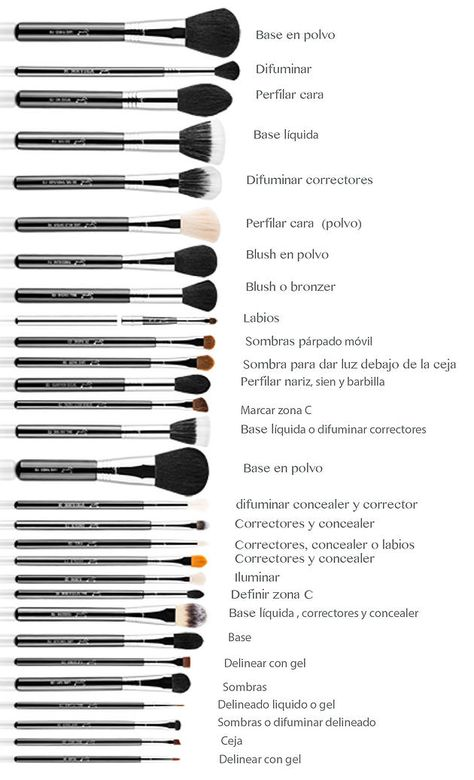 My Beauty Spot Blog | Tipos de brochas - Makeup Brushes
