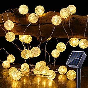 Solar Lichterkette Aussen Brizlabs 50 Led Knistern Kristall Kugeln Warmweiss Aussenlichterkette 5m 8 Lichterkette Aussen Solar Lichterkette Dekorative Beleuchtung