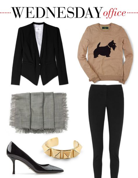 f709557ae99 Mizhattan - Sensible living with style   MIZZY S WEEKLY WARDROBE  C. Wonder  Scottie Dog Sweater