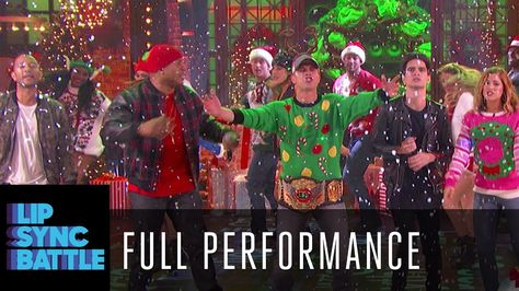 Rocking Around The Christmas Tree With The Cast Of Lip Sync Battle Cou Lip Sync Battle Lip Sync Lip Sync Songs