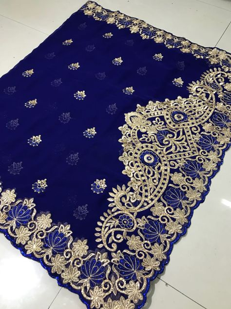 d37e47376c NET WITH EMBROIDERY Saree Bridal Valentine Day Gift Occasional Wear ...