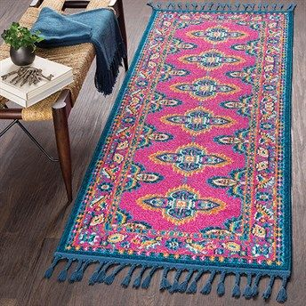 Hot Pink And Teal Runner For The Kitchen Am I Crazy Textured Carpet Bohemian Area Rugs Hallway Carpet Runners
