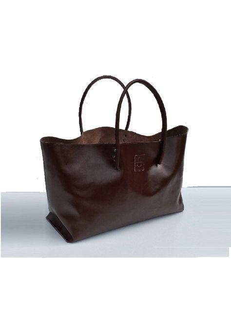 XXL Ledereinkaufstasche große Ledertasche Einkaufsshopper Shopper XXL braun handmade von Goldtaschen auf Etsy