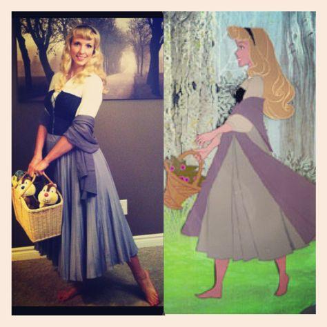 Beautiful Disney Sleeping Beauty Costume For Dress Up / Halloween