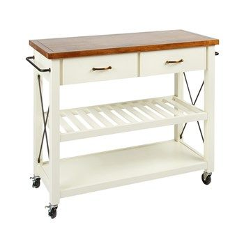 The Grainhouse Cream X Side Rolling Kitchen Cart Christmas Tree Shops And That Home Decor Furniture Furniture Gifts Rolling Kitchen Cart Kitchen Roll