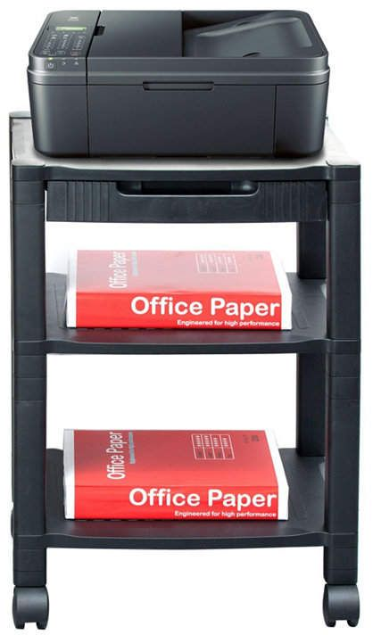 daily supplies Desktop Printer Stand,Home Office Double-Layer Finishing Rack Convenient File Storage Rack Multifunction Fax Machine,Copier Scanner Shelves