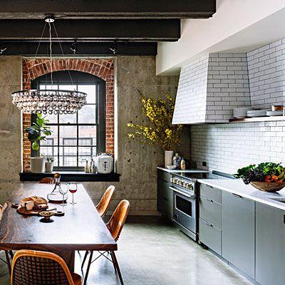Small loft kitchen