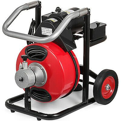 Sponsored Ebay Commercial 100ft 3 8 Electric Drain Auger Drain Cleaner Machine Snake W Cutter Drain Cleaner Plumbing Tools Clean Machine