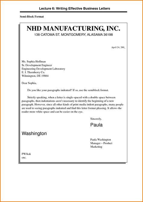 semi block business letter format sample template free word pdf - libreoffice resume template
