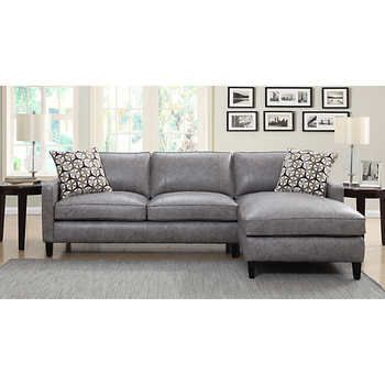 Griffith Top Grain Leather Sectional Pebble Beach Gray Leather Couches Living Room Grey Leather Sofa Leather Sofa Living Room