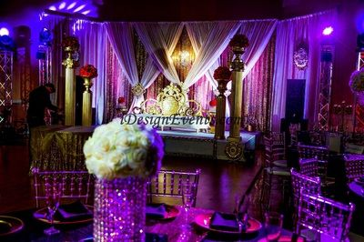 9 best marsala wedding decor images on pinterest wedding decor gold and red backdrop with gold glitz sequin draping gold sequin glitz backdrop with ivory draping and lavender uplighitng wedding and reception stage decor junglespirit Gallery