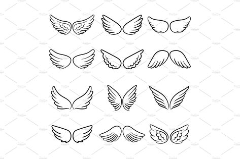 Cute angel wings set You are in the right place about Halloween Design fashion Here we offer you the most beautiful pictures about the Halloween Design card you are looking for. When you examine the Cute angel wings set part of the picture you can …