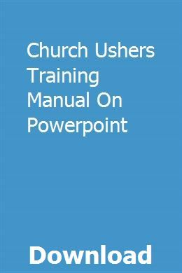 The ministry of church ushers: a starter's guide to usher ministry.