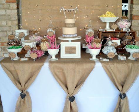 Burlap Party Decorations Ideas 10  Bridal shower rustic, Burlap