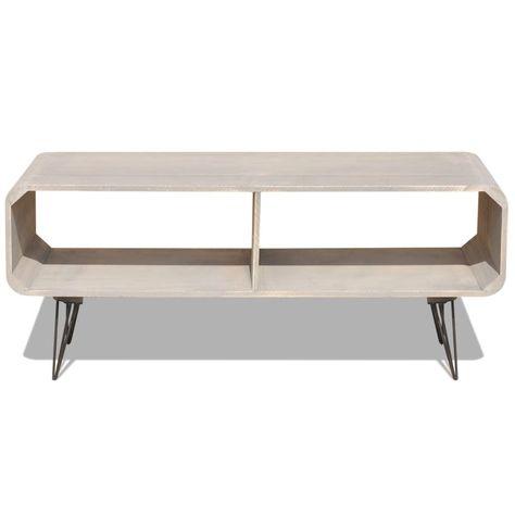 TV Cabinet 90x39x38.5 cm Wood Grey