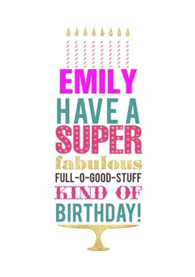 Personalised Cards For Daughter Birthday Moonpig Poster Design Tutorials Business Card Template Design Birthday Cards For Women