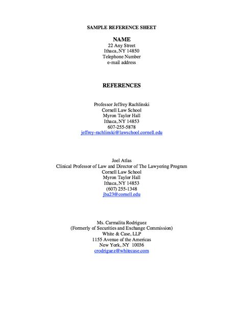 Sample Reference Sheet - http\/\/resumesdesign\/sample-reference - optimal resume sanford brown