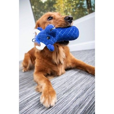 Trustypup Bull Quilted Durable Plush Dog Toy Blue M In 2019