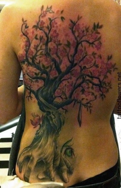 Cherry Blossom Tree Tattoo On Back Http Tattooflowers Net Cherry Blossom Tattoo Cherry Blossom Tre Blossom Tree Tattoo Cherry Blossom Tree Tattoo Tree Tattoo