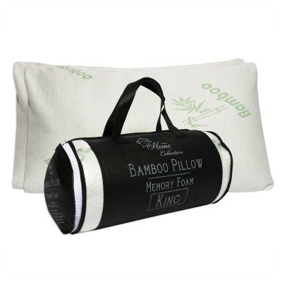 Memory Foam Bed Pillow with Carry Bag