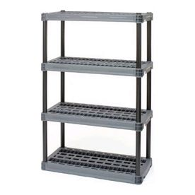 56 5l X 36w X 24d Plastic Shelf Shelving Lowe S Plastic Shelving Units Plastic Shelves Garage Shelving Units