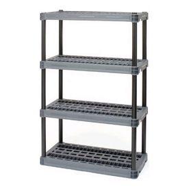 56 5l X 36w X 24d Plastic Shelf Shelving Lowe S Plastic Shelving