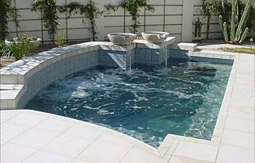 Pool Spa Combo Spool Small Backyard