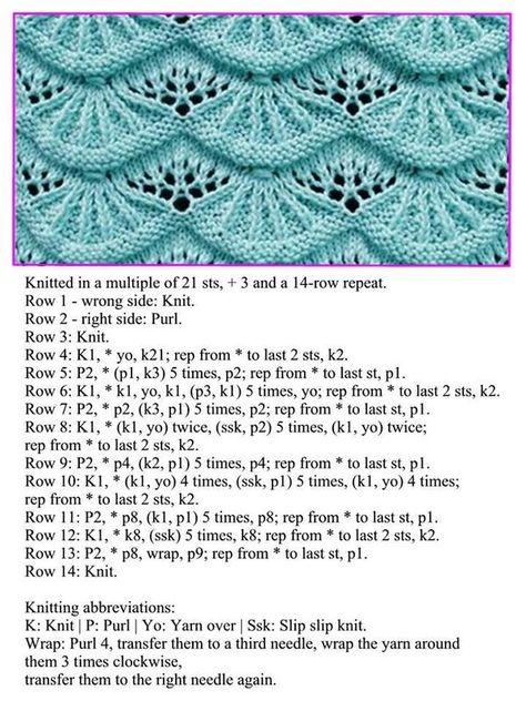 A stitch pattern