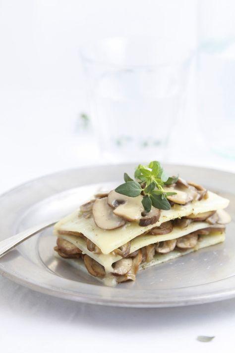 LASAÑA DE PATATA Y CHAMPIÑONES (Potato and Mushroom Lasagna) #RecetasConPatatas #RecetasOriginales