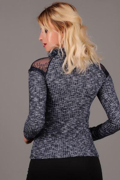Bluz Omuz Tul Dantel Lacivert Bluz Giyim Stil Abiye Muhafazakar Indirim Tarzi Rahat Otantik Etnik Magaza Akse Bluz Dantel Bluz Modelleri