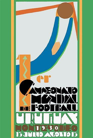 Football World Cup 1930 Poster Poster By Valentinahramov In 2020 World Cup Logo 1930 Fifa World Cup World Football