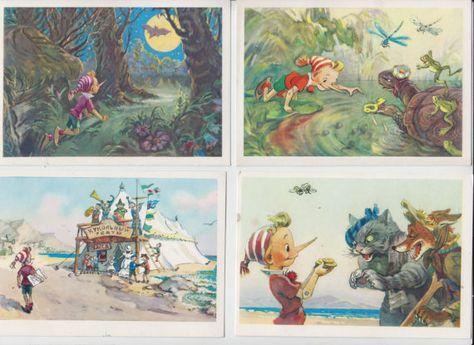 Набор открыток история пиноккио буратино цена