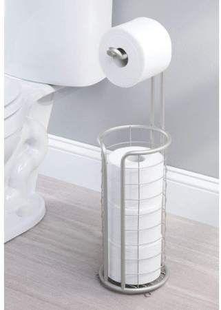 Pkpower Modern Metal Freestanding Toilet Paper Roll Holder Stand And Dispenser Toilet Paper Holder Stand Toilet Paper Roll Holder Bathroom Storage Organization Toilet roll holder stand