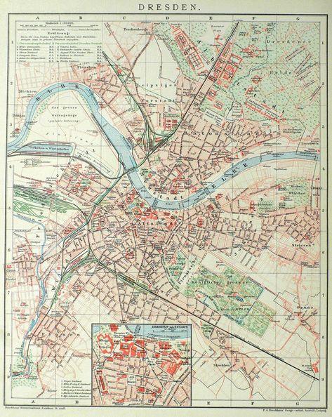 Dresden Dresden Stadtplan Landkarte Und Dresden
