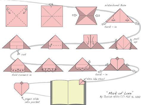 guiltless reading: #BookmarkMonday: DIY Origami Hearts