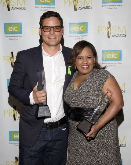 """calzona-ga:  The 18th Annual PRISM Awards Chandra Wilson won """"Female Performance in a Drama Series Multi-Episode Storyline"""" Justin Chambers won """"Male Performance in a Drama Series Multi-Episode Storyline"""""""