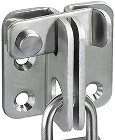 Flip Door Latch 201 Stainless Steel 100x70mm Gate Latch Hasp Slide Lock 3 Pcs