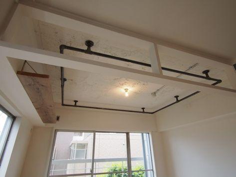 P 何でも吊るせるハンガーを天井に設置 布はもちろん ハンモックや