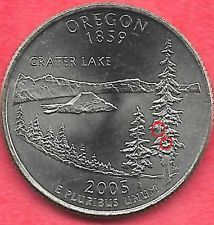 2005 D Oregon State Quarter Error Coin Reverse Die Chips Uncirculated Coins Rare Coins Worth Money Valuable Coins