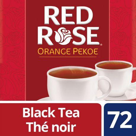 Red Rose Black Tea For Smooth And Satisfying Taste Orange Pekoe 100 Rainforest Alliance Certified 72 Count Orange Pekoe Tea Red Rose Tea Black Tea Bags