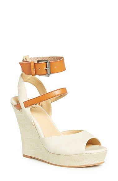 😍😍 BC Footwear 'Move It' Wedge Sandal (Women) available at #Nordstrom