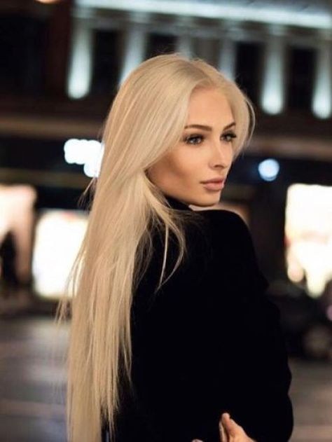 Best Blonde Hair Color Shades Long Straight Human Hair Full Lace Wig - Human Hair Wigs - BabalaHair