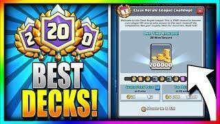 BEST DECKS to get 20 WINS!! TRY THESE FIRST!! New Clash Royale