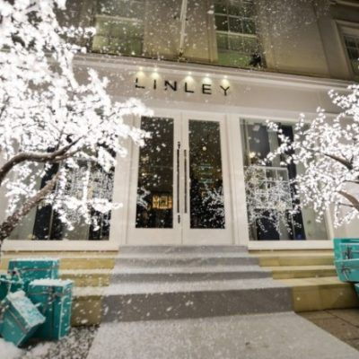 3m Grande Cherry Trees Covered In Snow Outside Linley Led Tree Led Christmas Tree Luxury Wedding Gifts