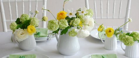Green and Yellow Table Top Inspiration