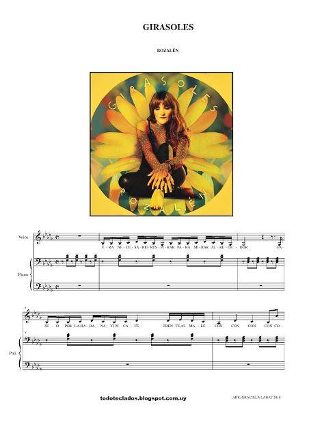 Girasoles Rozalén Girasoles Piano Partituras Partituras