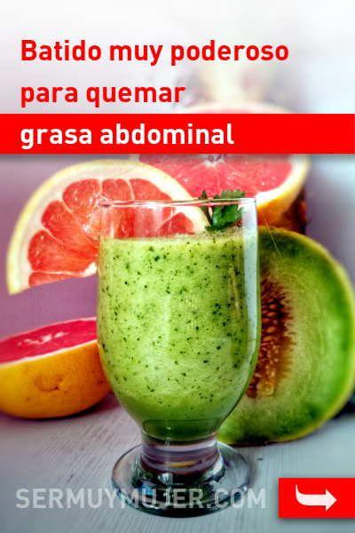 Batidos verdes para quemar grasa y bajar de peso