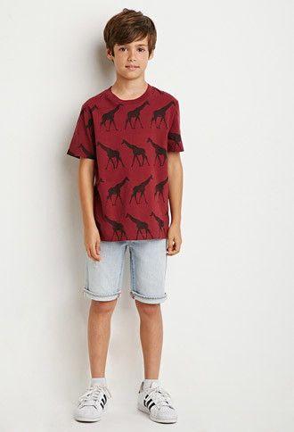 Giraffe Print Tee (Kids)   FOREVER 21 BOYS - 2000142969