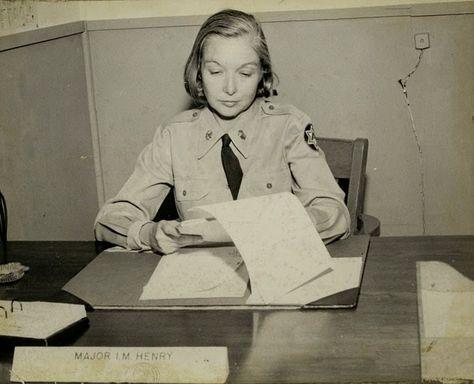 Military Monday: Fearless Female Major Isabella Martin Henry, 1910-1994 #genealogy #familyhistory